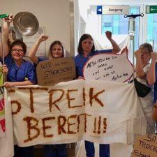 Pflegestreik im Saarland: Die Lunte brennt